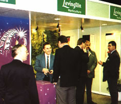 Mel working on an exhibition stand for Levingtons